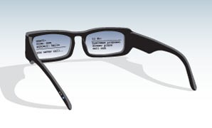 Interactive Eyeglasses Speculative Product Design for common Projector Glasses